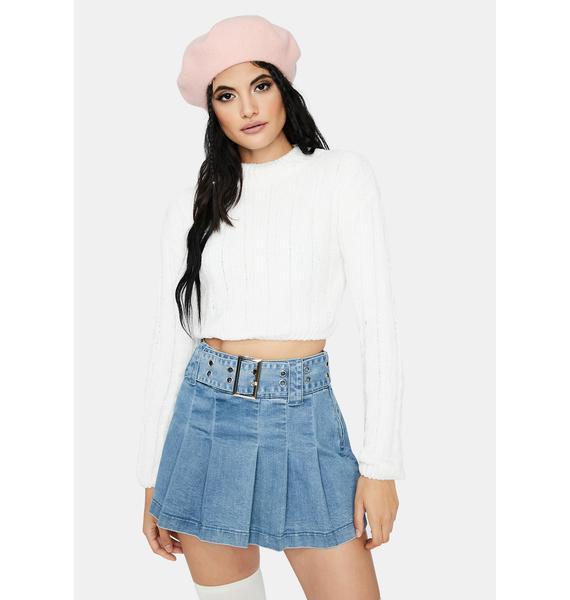 Pure Blossom in Love Cropped Sweater
