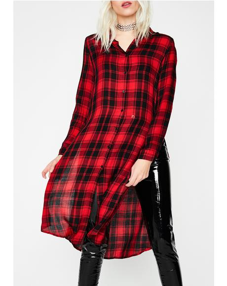 Love Mad Decisions Shirt Dress