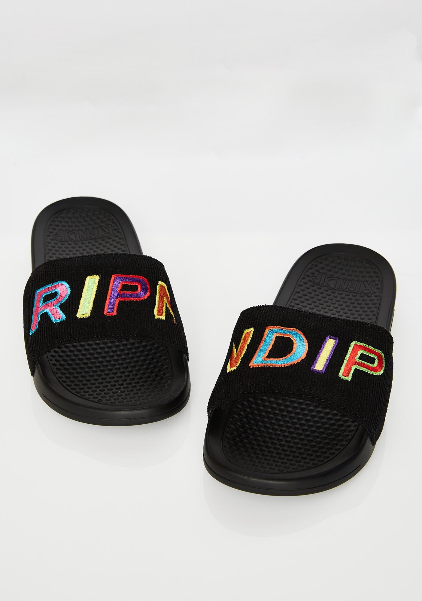 RIPNDIP Prisma Corduroy Slides