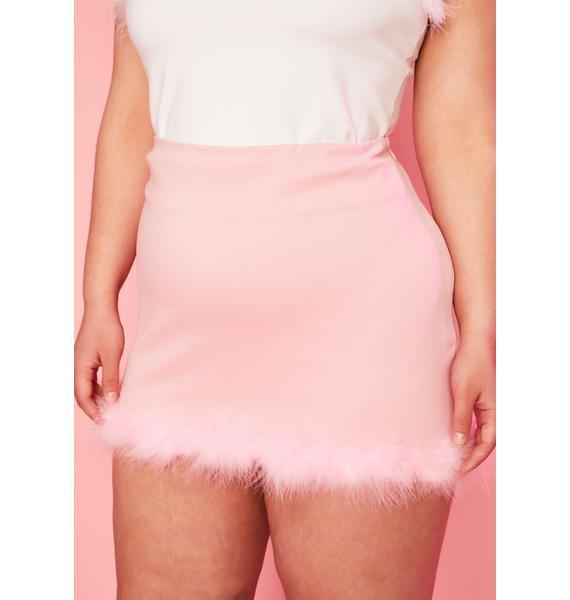 Sugar Thrillz True But First Dessert Marabou Skirt