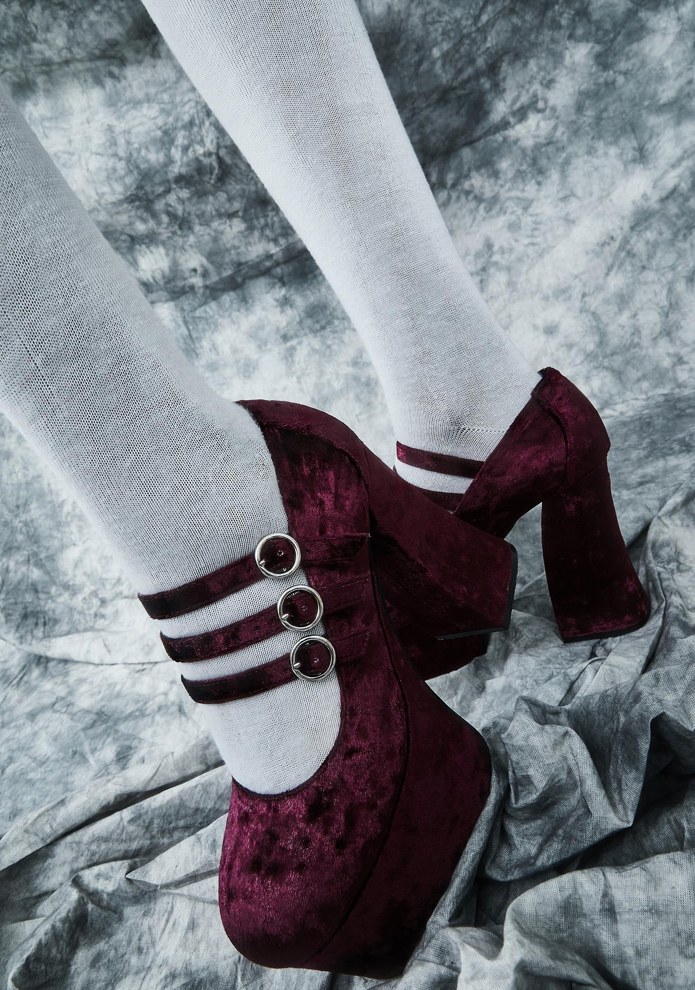 dELiA*s by Dolls Kill Swish And Flick Velvet Mary Janes