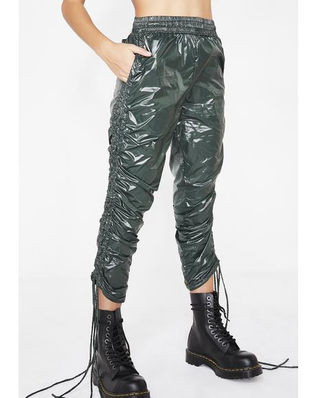 Trap House Ruched Trousers