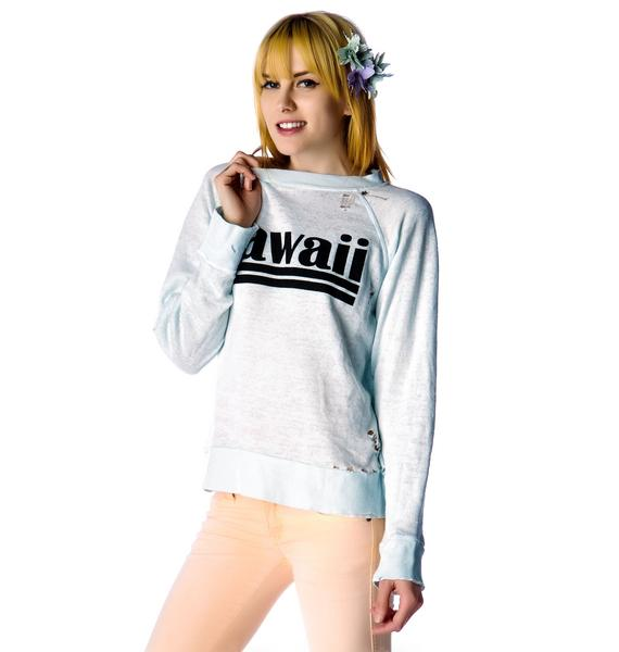 Wildfox Couture Hawaiian Dream Destroyed Sweater
