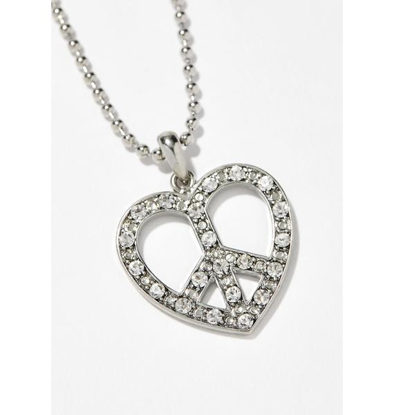 Love Thing Rhinestone Necklace