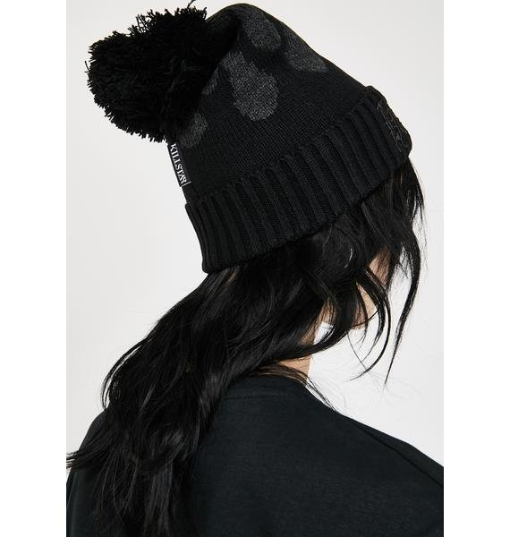 Killstar Black Souls Bobble Hat