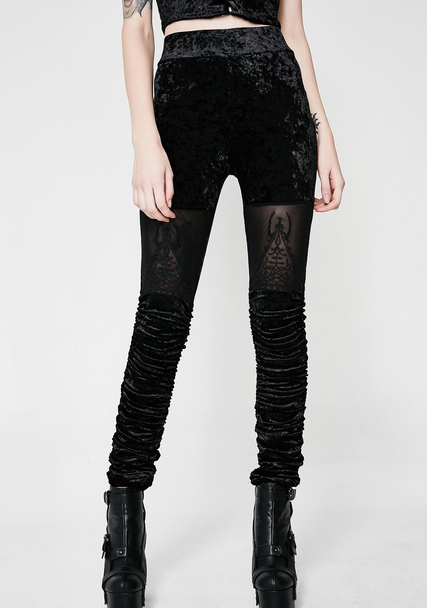 Killstar Nightshade Velvet Leggings