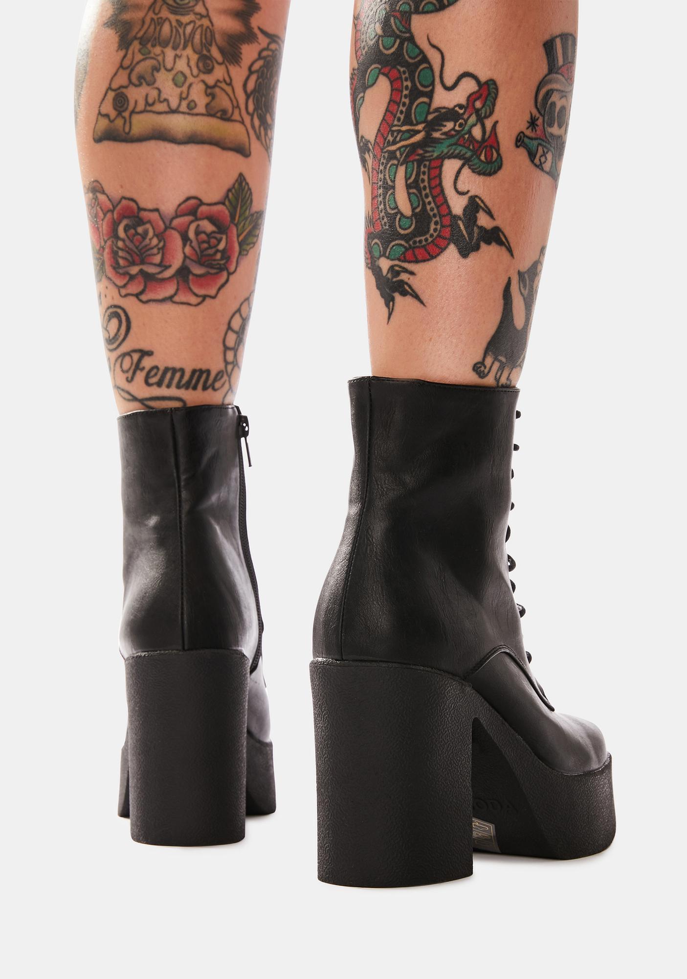Lamoda Insomnia Platform Ankle Boots