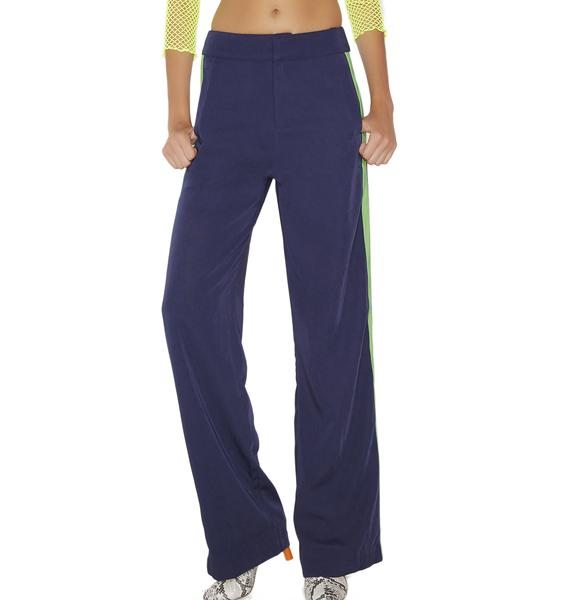 Navy Walk The Line Wide Leg Pants