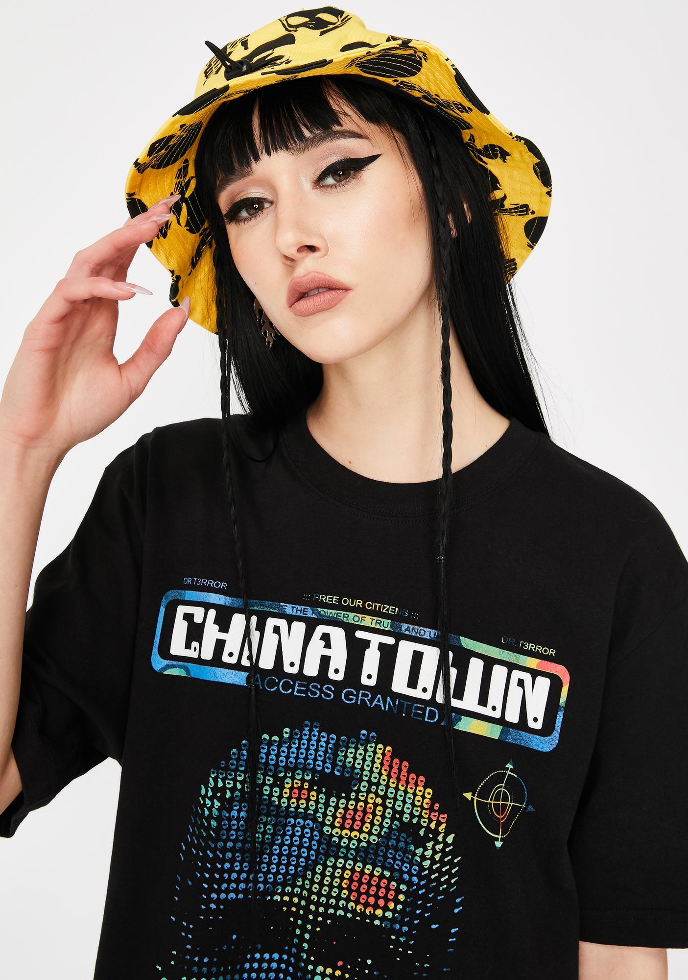 CHINATOWN MARKET No Evil Bucket Hat