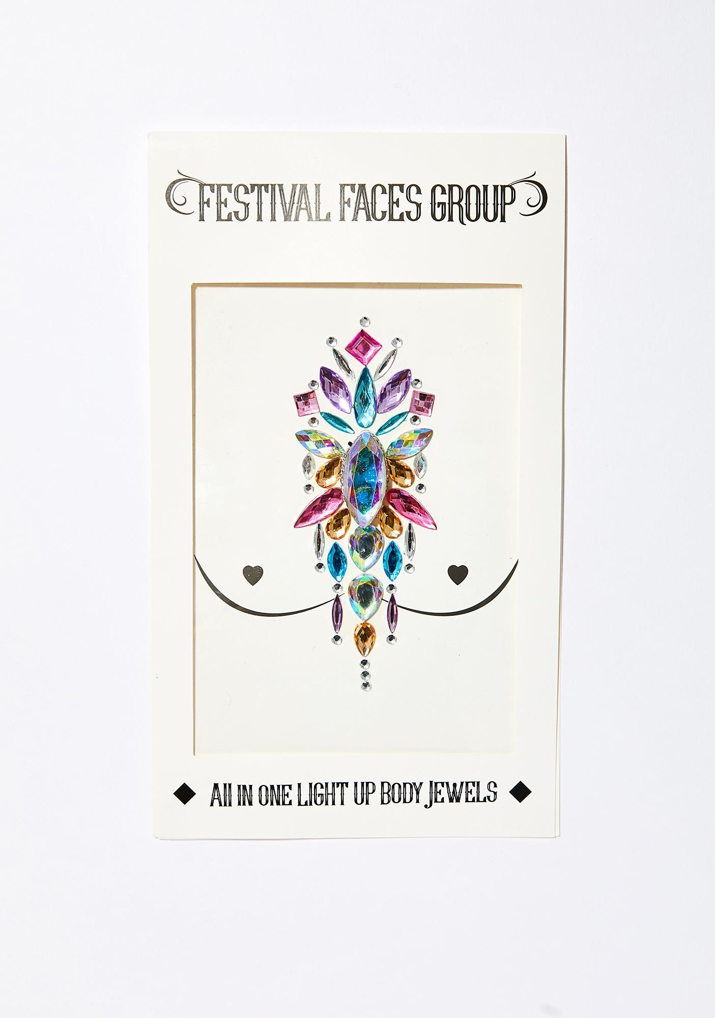 Festival Faces Group Light Up Body Jewels