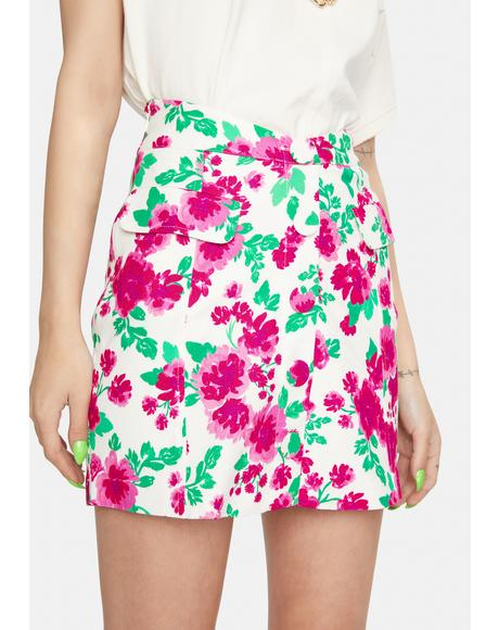 Carnation Janelle Linen Mini Skirt