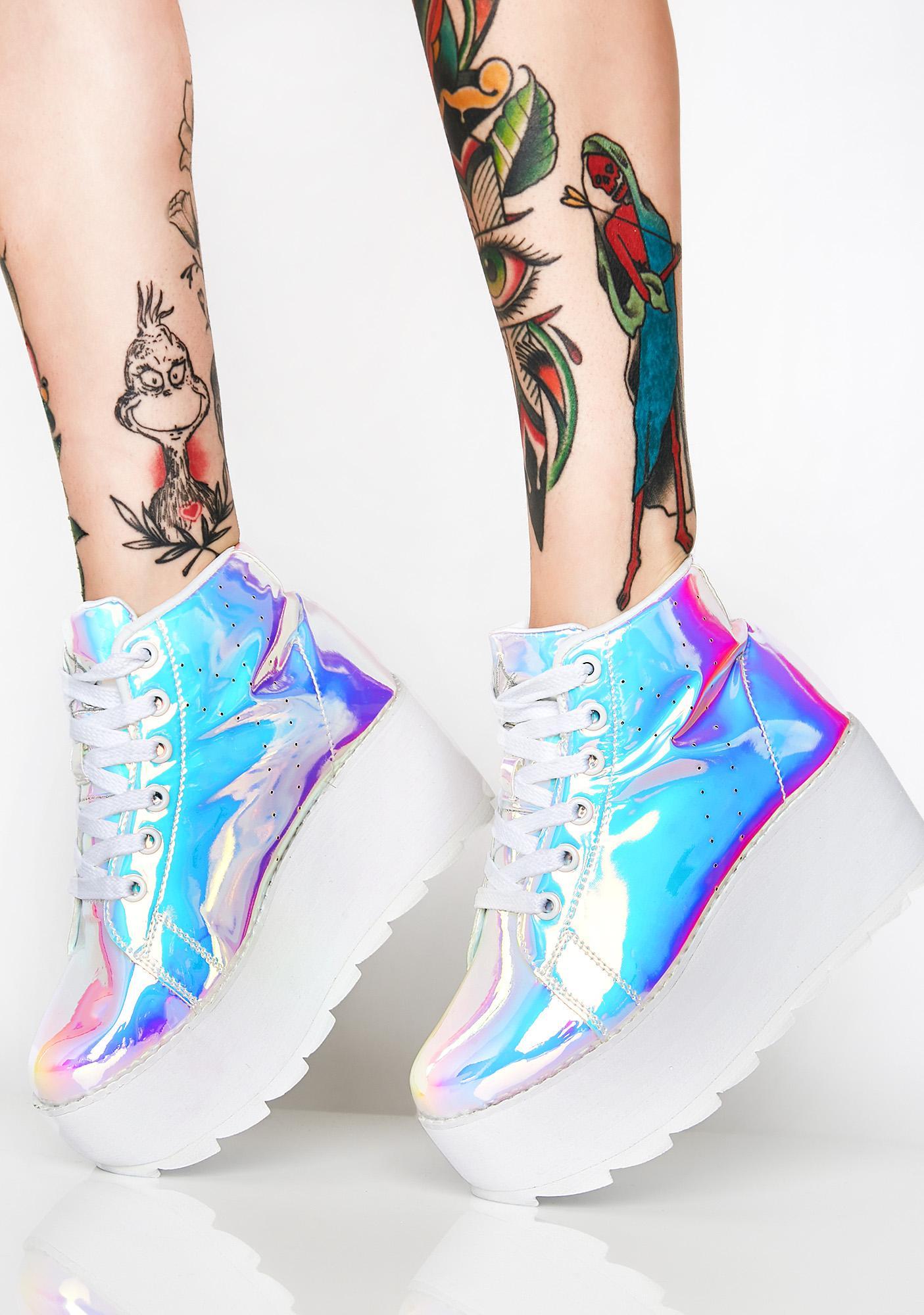 premium selection 091db cb236 Y.R.U. Lala Hi Atlantis Platform Sneakers