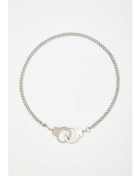 Delinquent Life Handcuff Necklace