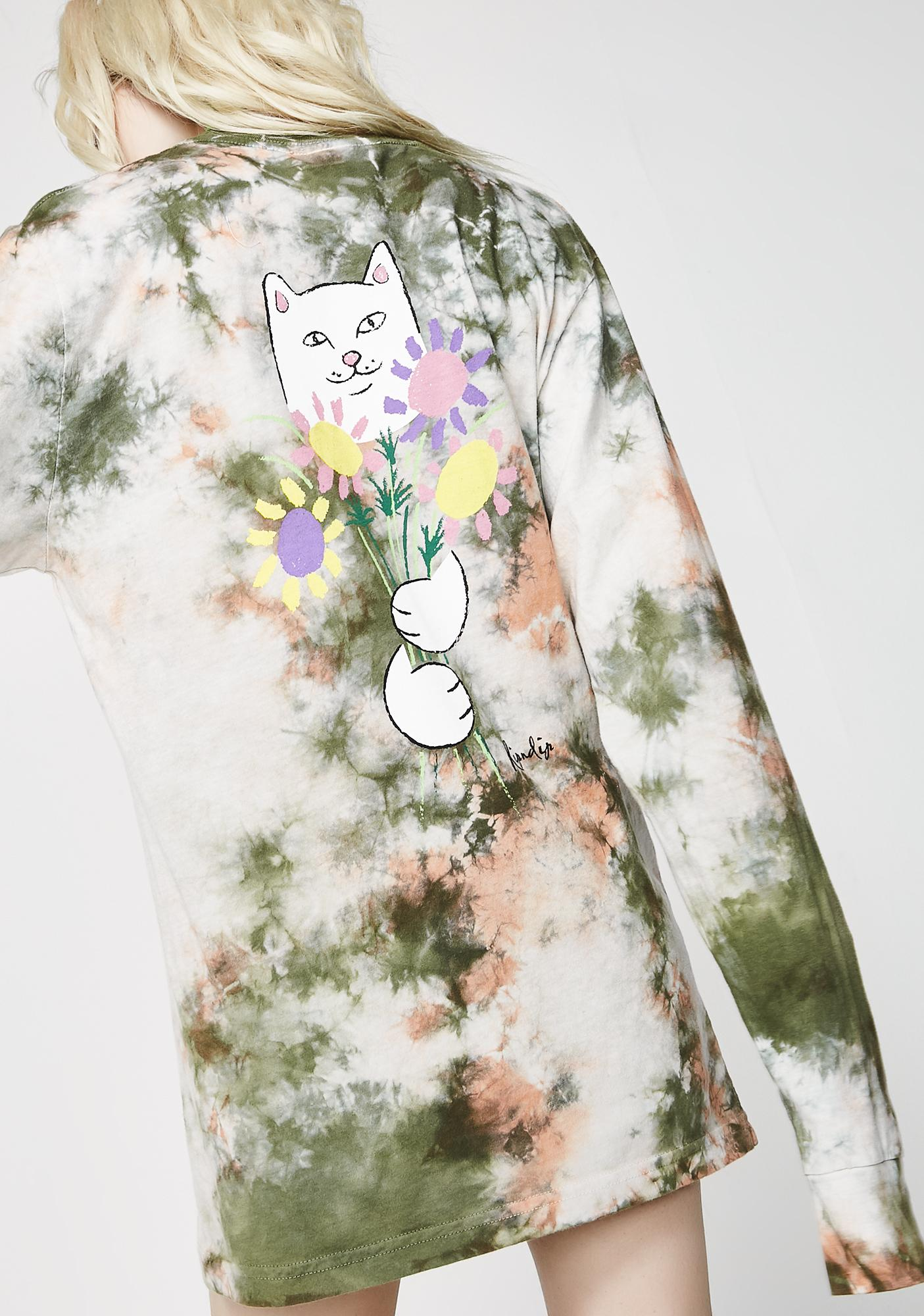 RIPNDIP Flowers For Bae Long Sleeve Tee