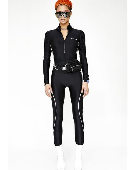 Sleek Zip Down Bodysuit