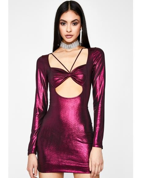 Grape Cheers To Me Mini Dress