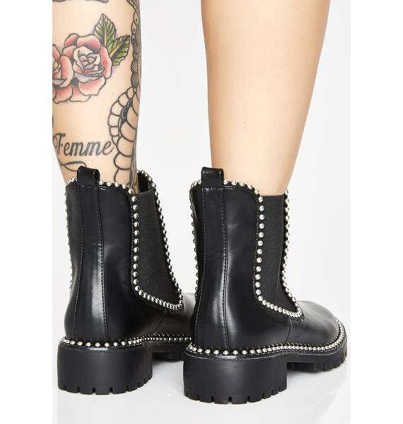 Raided Treasure Studded Boots