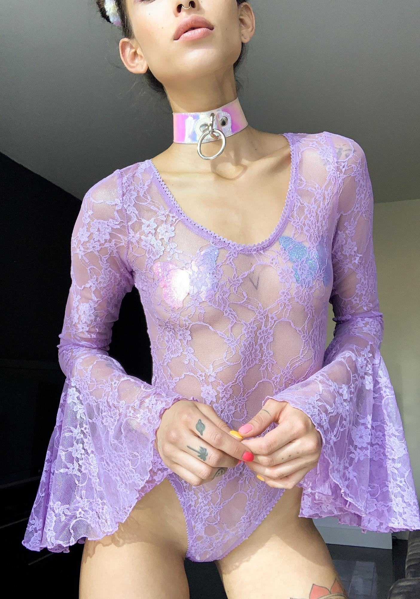 Sugar Thrillz Pixie Dust Lace Bodysuit