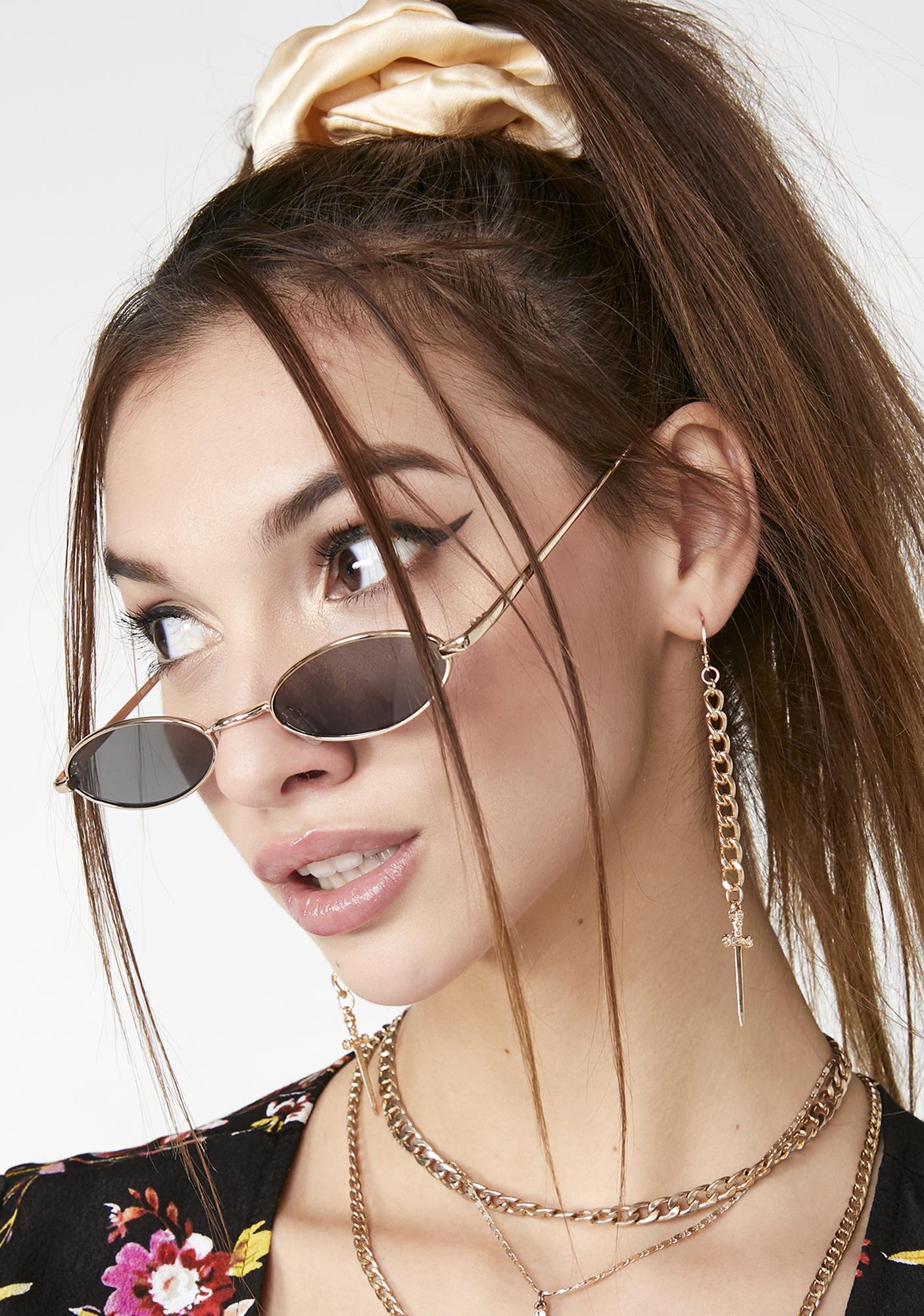 Blessed Is She Cross Earrings
