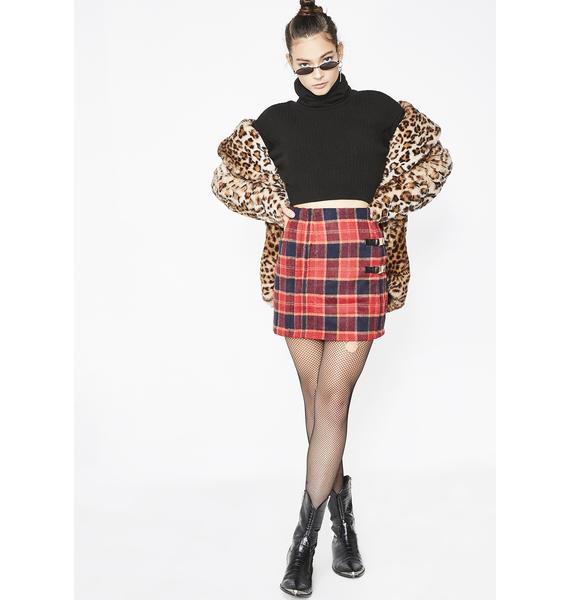 Never Easy Plaid Skirt