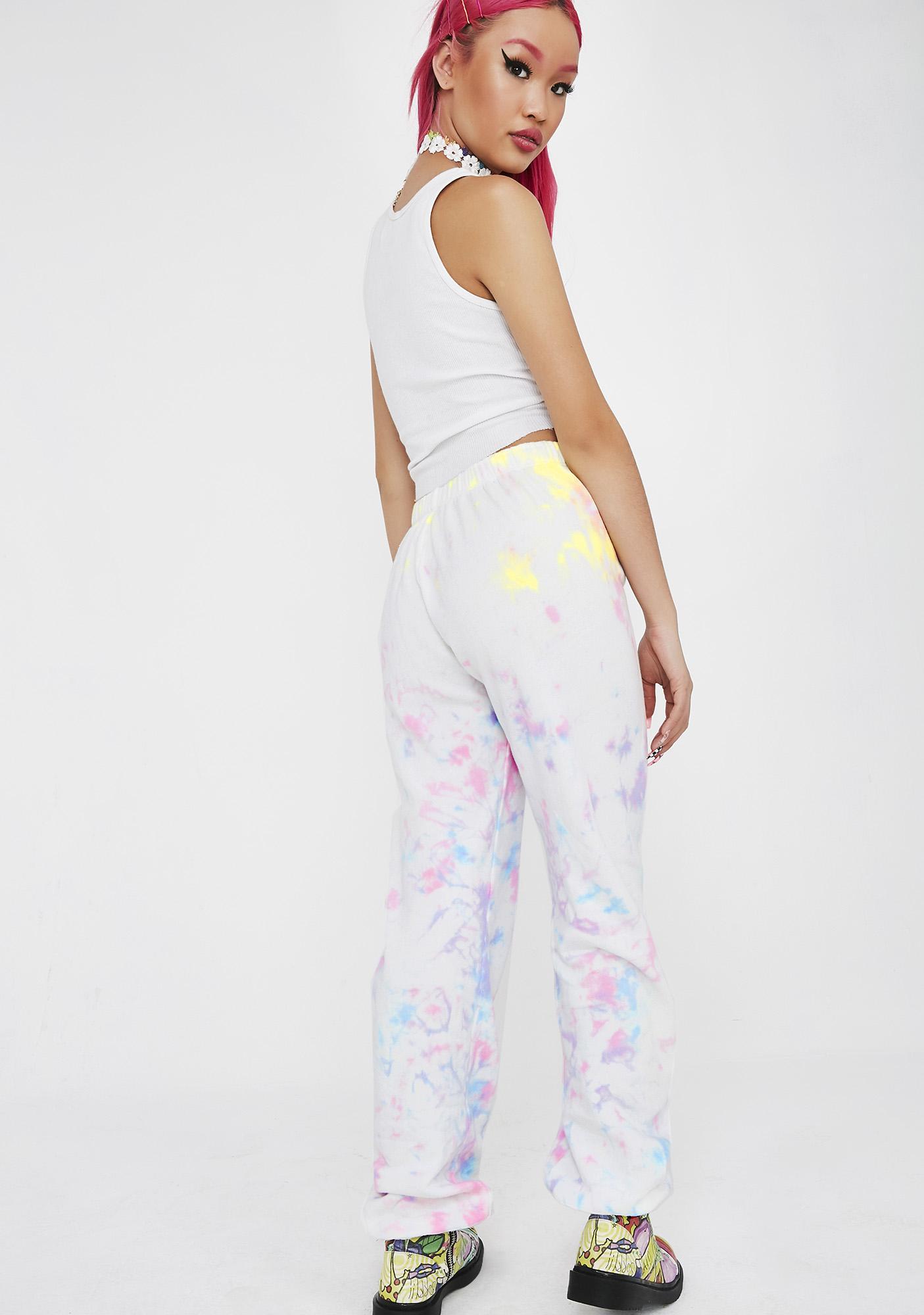 Wildfox Couture Aura Tie Dye Easy Sweats