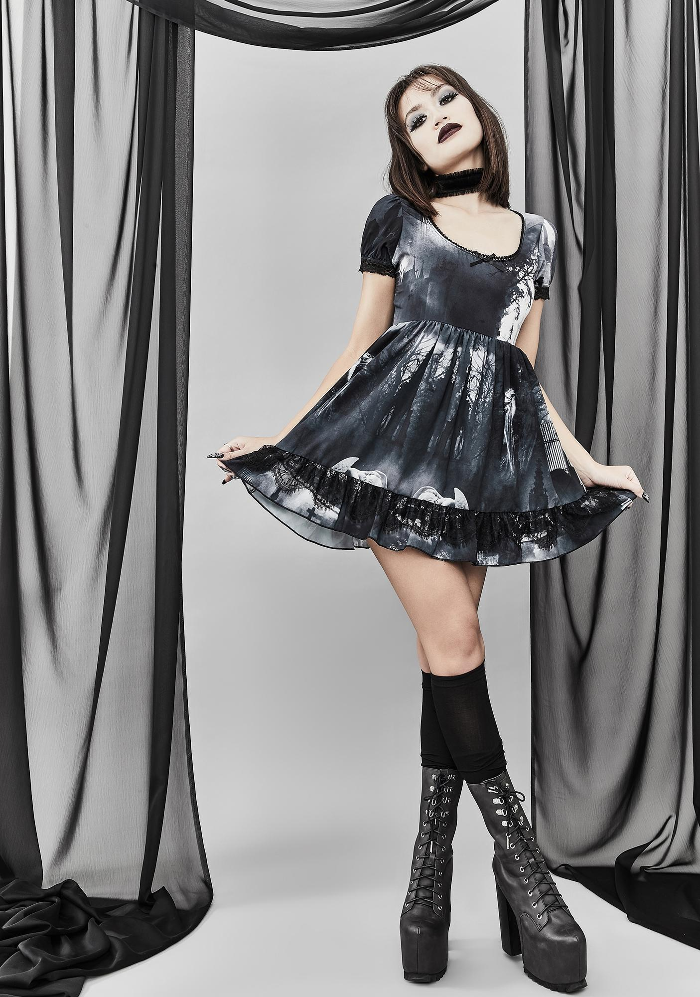 Widow Ghouls Night Out Babydoll Dress