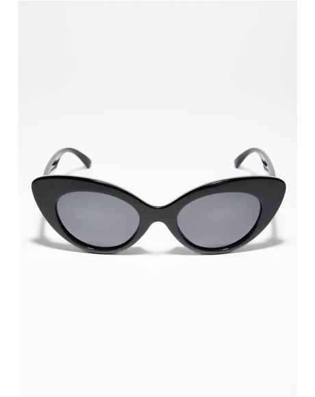 The Wild Gift Gloss Black Sunglasses