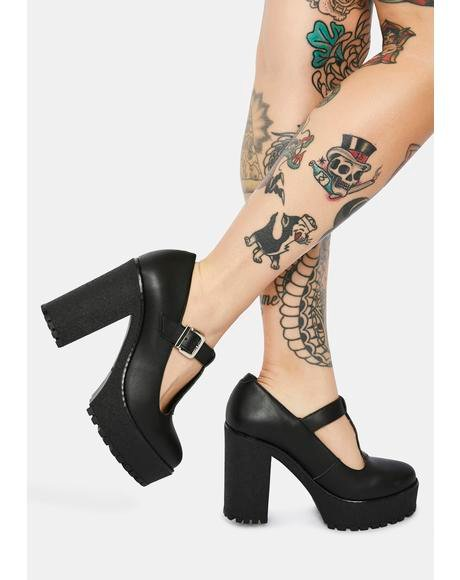 Lizzy Vegan Leather Mary Jane Heels