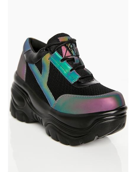 Matrixx Reflective Platform Sneakers