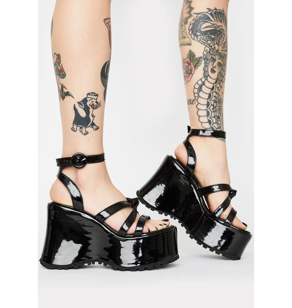 dELiA*s by Dolls Kill Point Break Platform Heels
