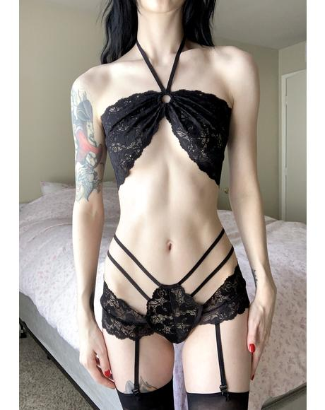 Creeping Sin Lace Lingerie Set