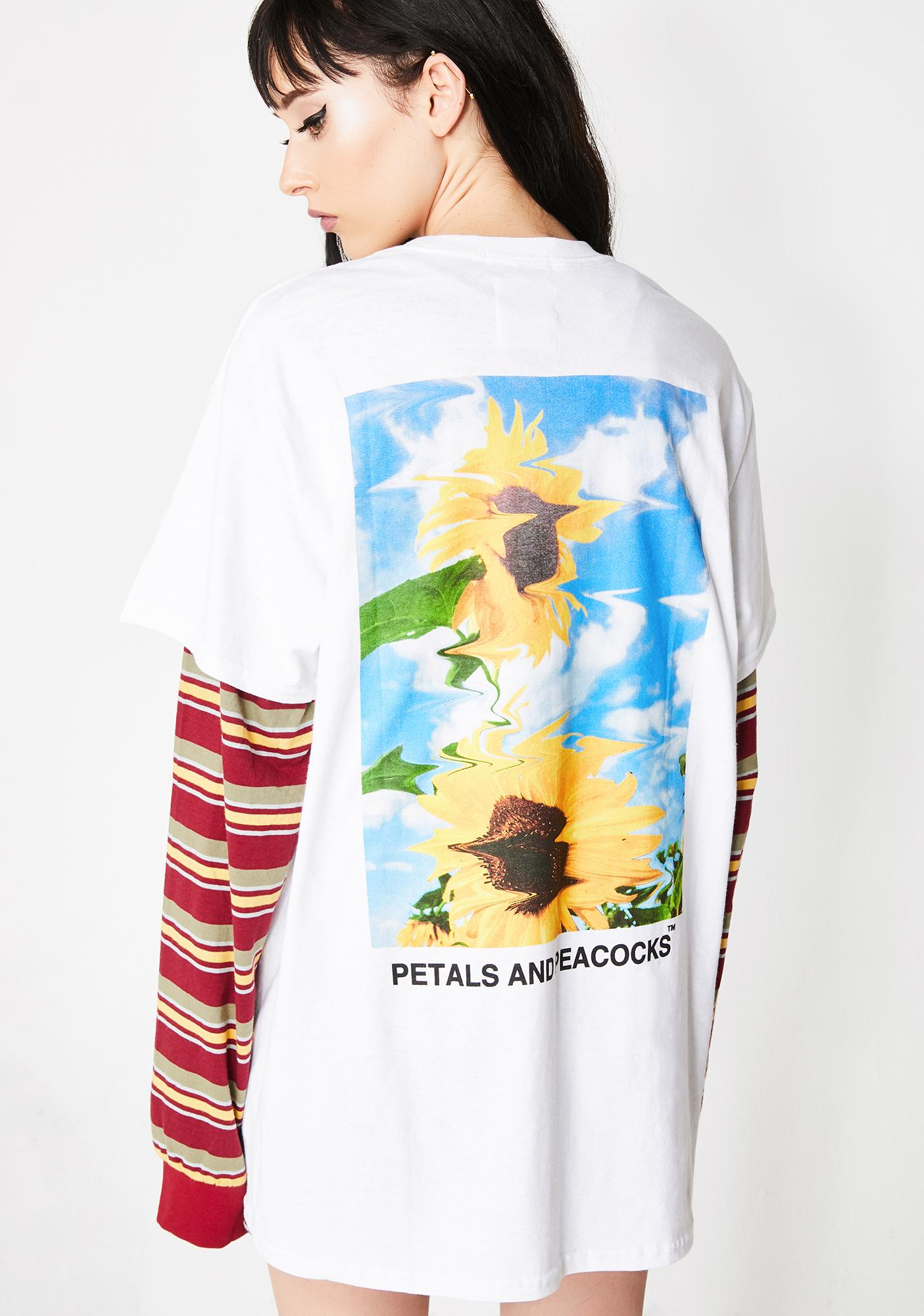 Petals and Peacocks Blurry Tee