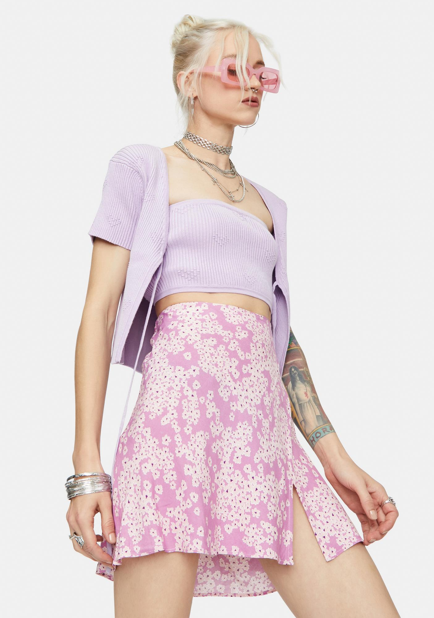 Hello Spring Floral Mini Skirt