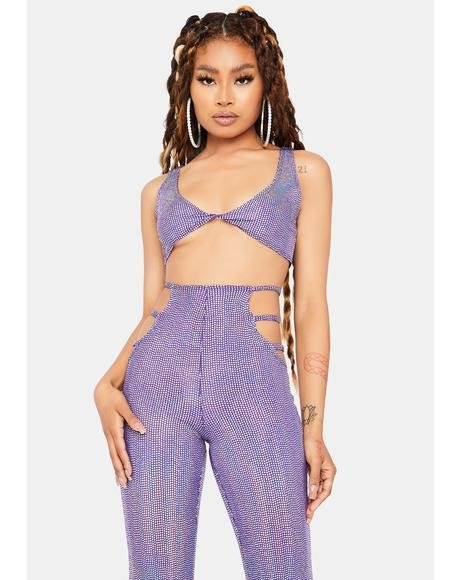 You're My Soulmate Cut-Out Pant Set