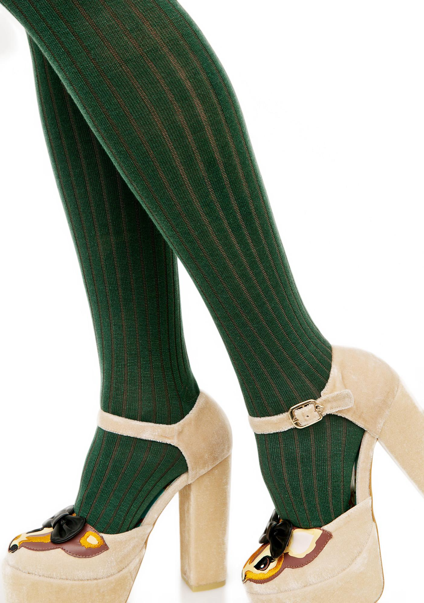 Lady Emerald Knit Tights