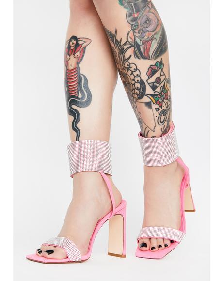 Jebelle Rhinestone Sandal Heels