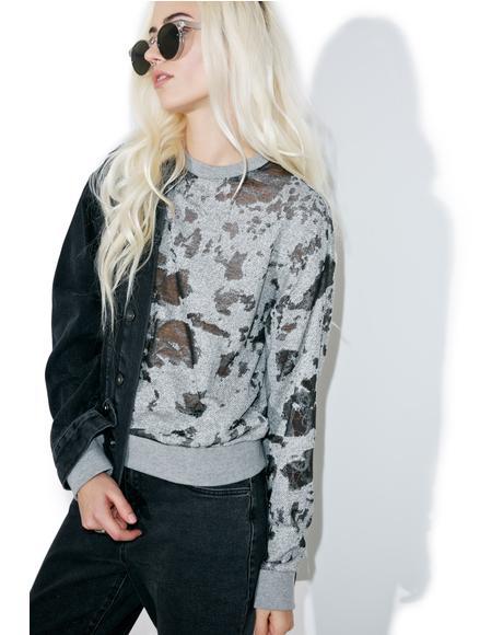 Deconstructed Terry Sweatshirt