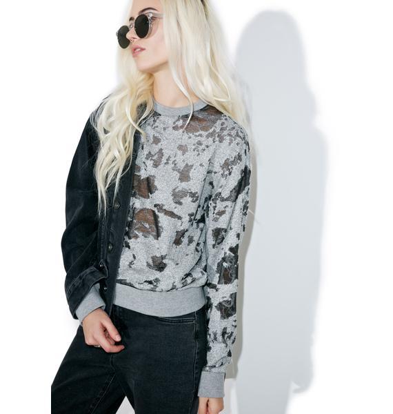 Kendall + Kylie Deconstructed Terry Sweatshirt