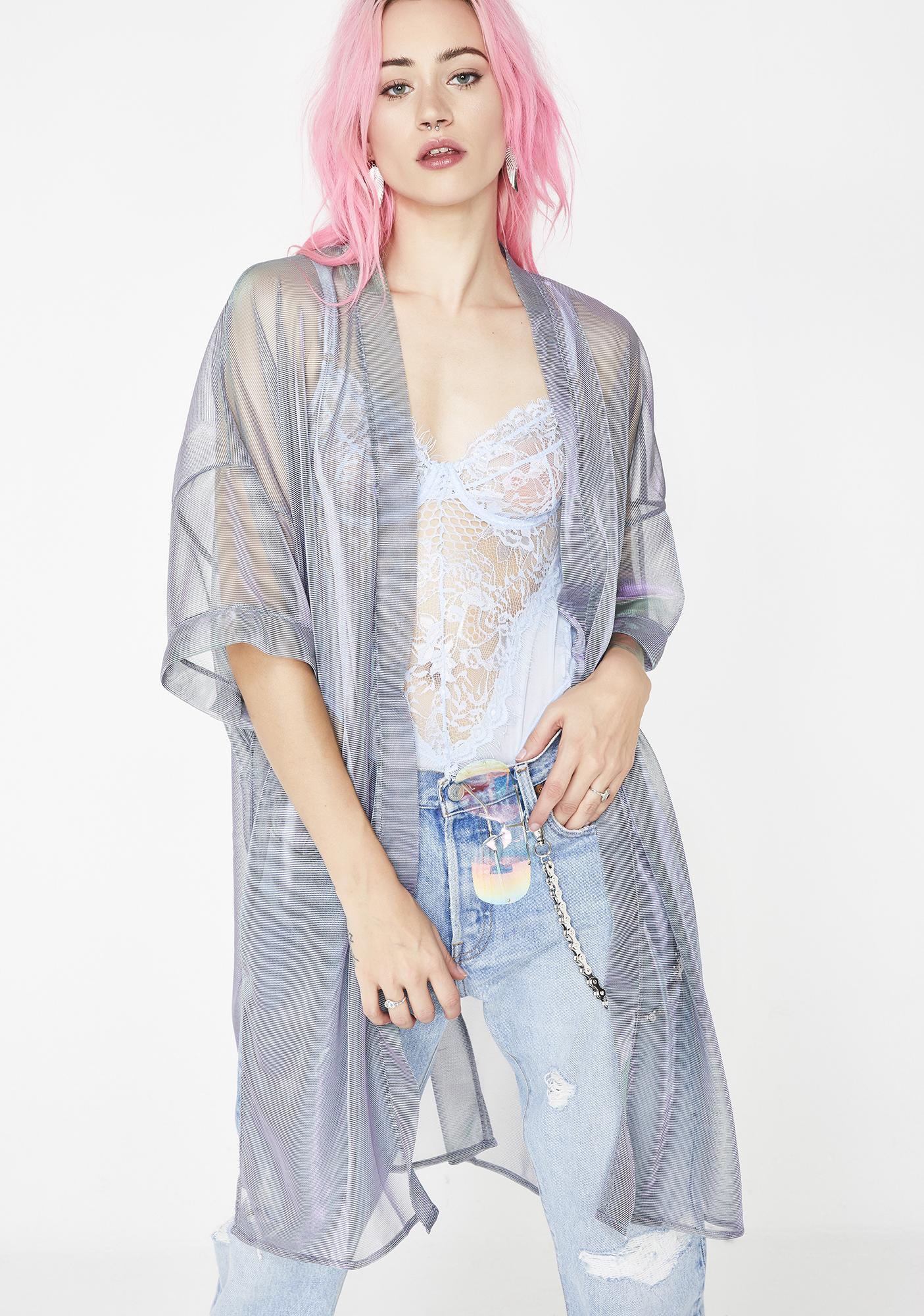 f67f2ea7a75 Sheer Iridescent Purple Kimono | Dolls Kill