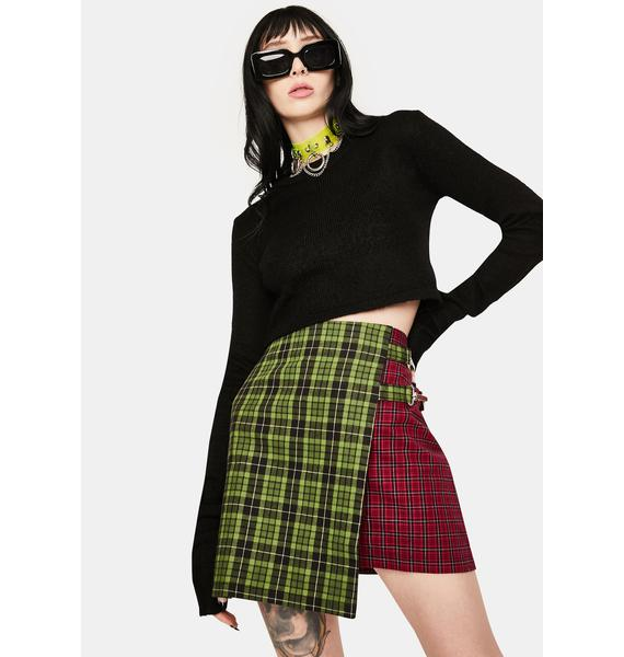 The Ragged Priest Disturb Plaid Wrap Skirt