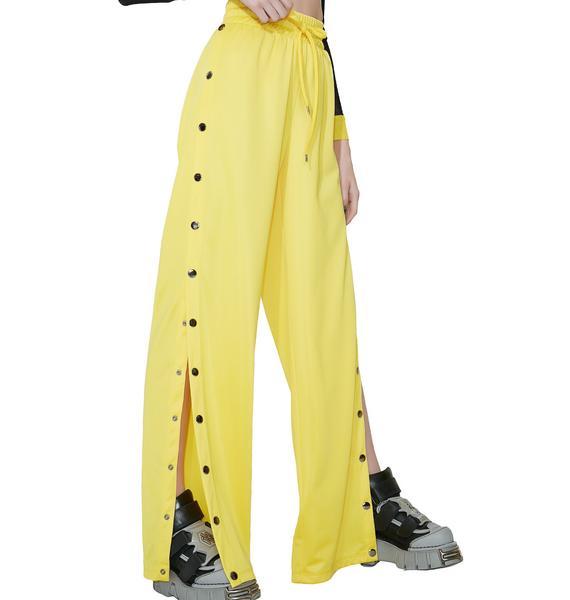 Kiki Riki Lemon Wannabe Snap Track Pants