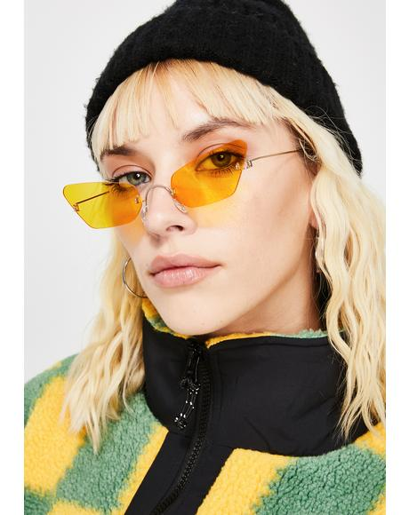 Just Be Honest Clear Sunglasses