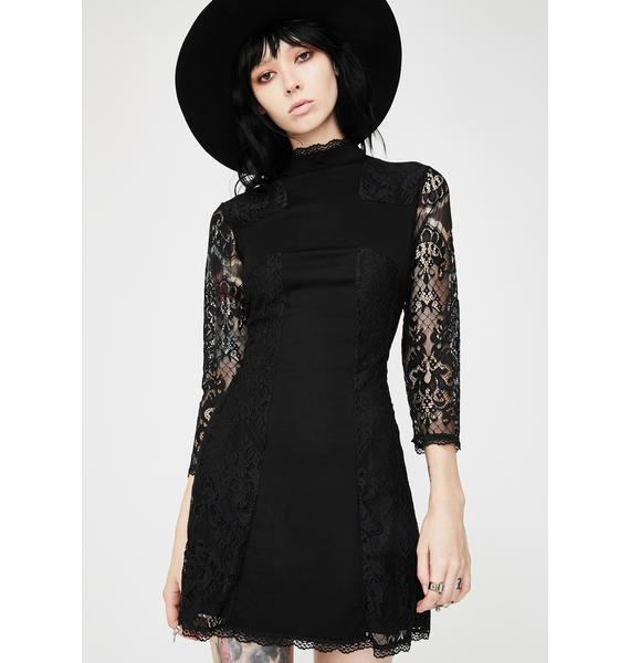 Killstar Crossed Over Lace Dress