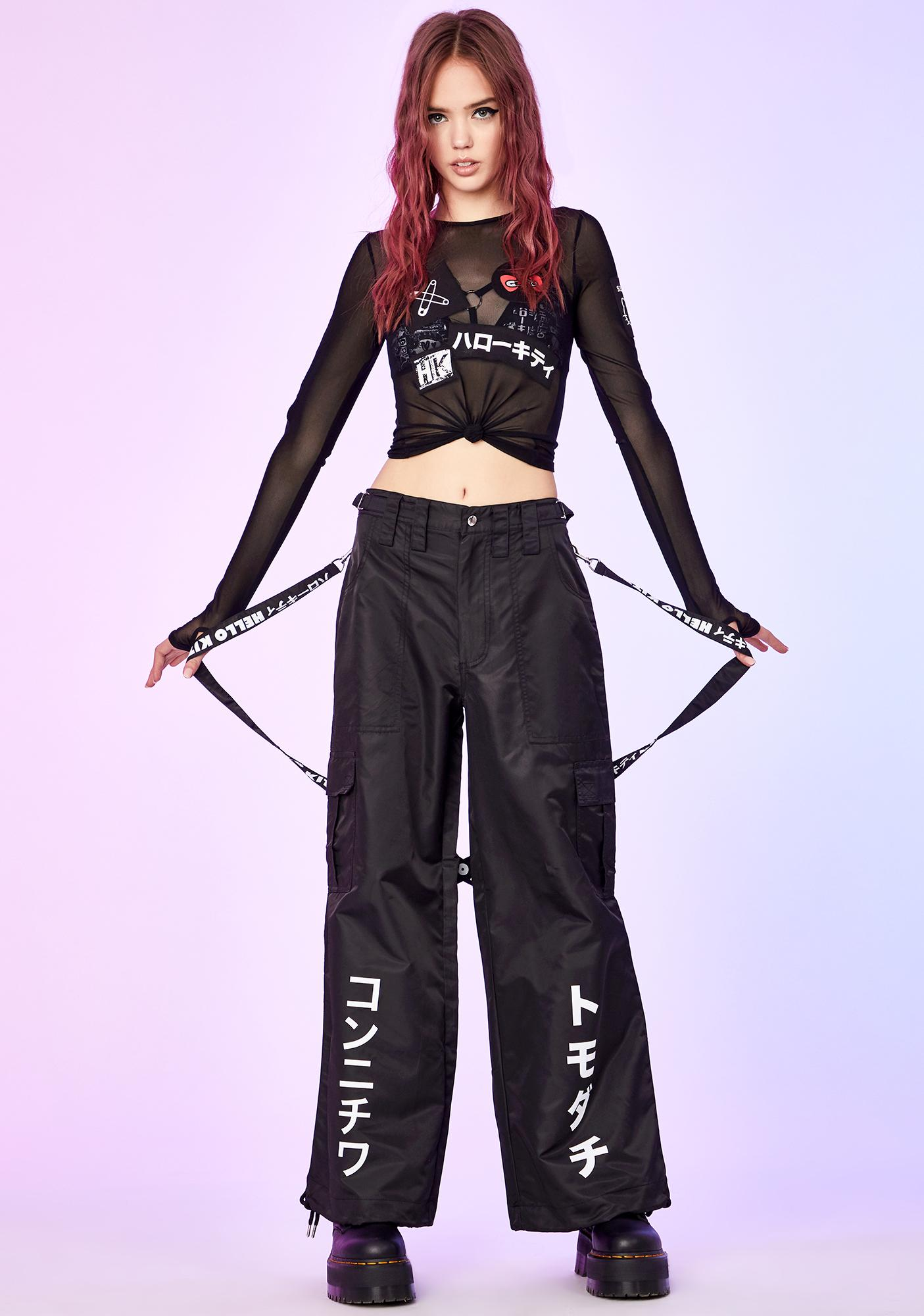 Dolls Kill x Hello Kitty Rebellious Realm Wide Leg Pants