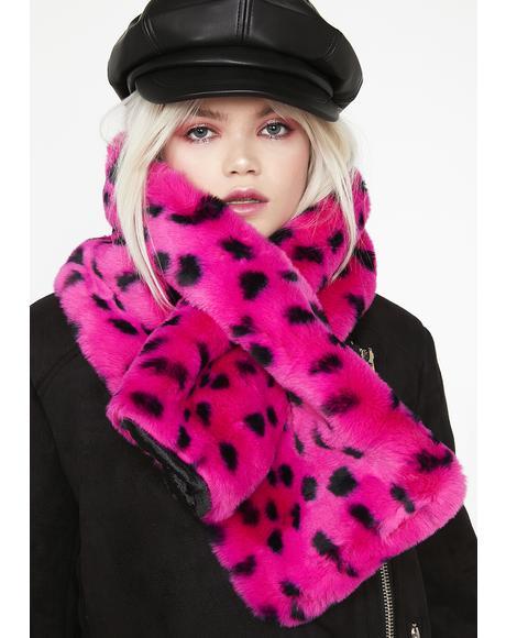 Furry Leopard Scarf