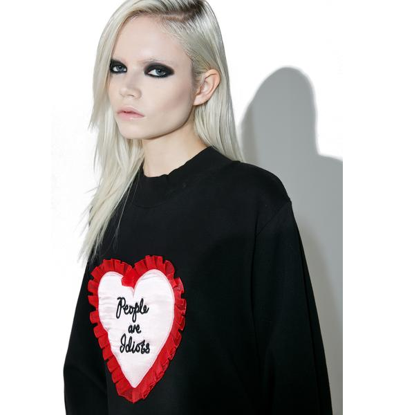 Lazy Oaf People Are Idiots Sweater
