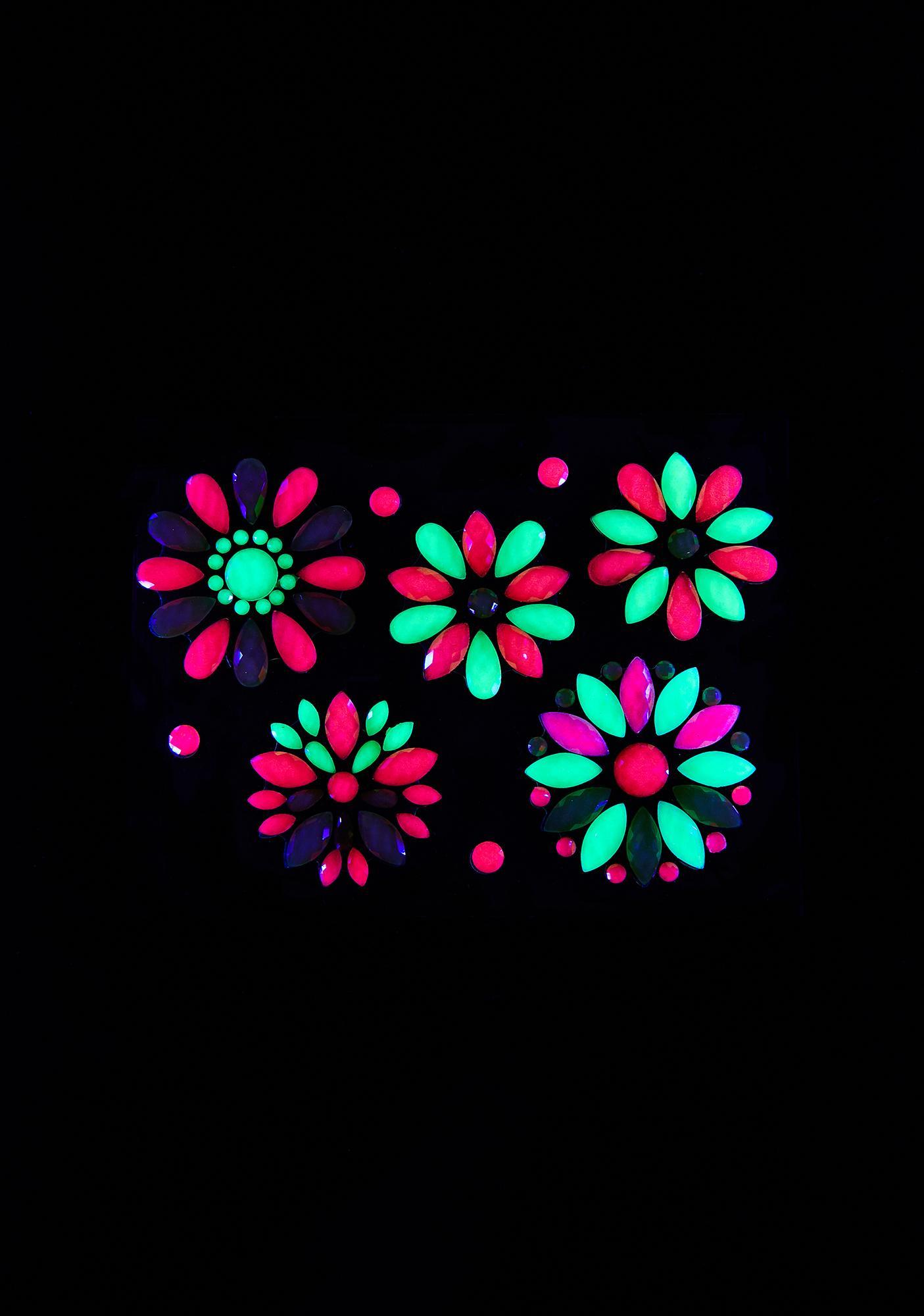 Neva Nude Mayan Blossom UV Reactive Body Jewels