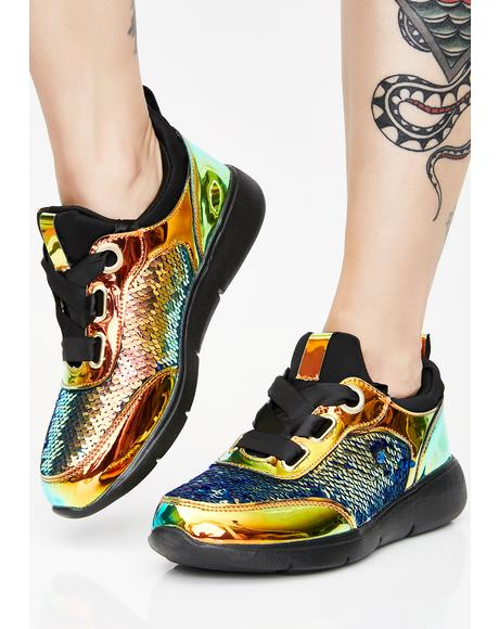 Lunar Static Spark Sequin Sneakers
