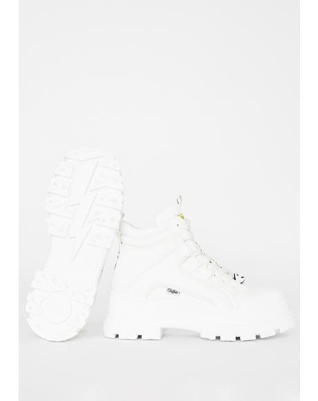 White Panthera Mid Boots