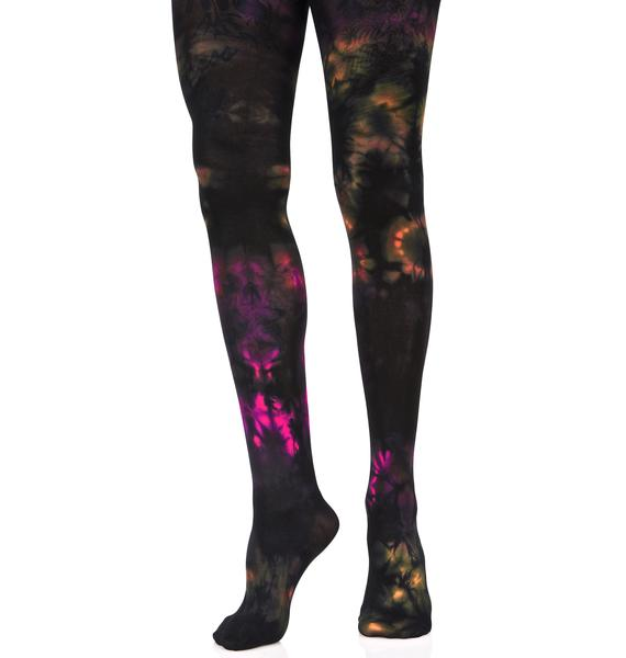 Colour Craze Tie Dyed Tights